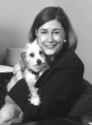 Kathy Warnick with dog
