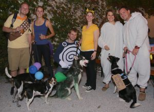 Barktoberfest costumes and dogs