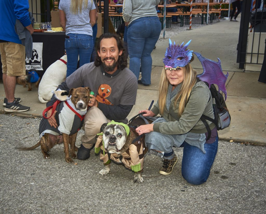 image of HSMO event showing people with pets